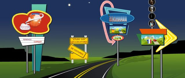 Infographie animée sur les location de voitures