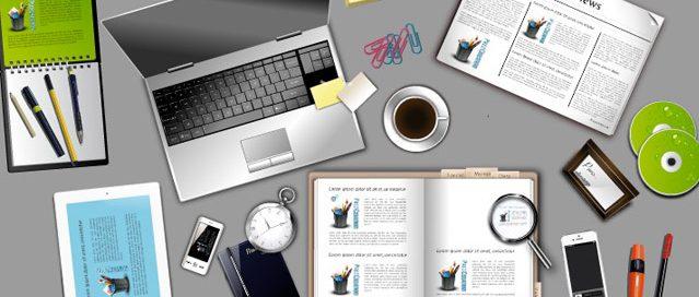 prezi que vous pouvez re-utiliser sur votre compte Prezi. Fond en image vectoriel et thème prezi d'un bureau.
