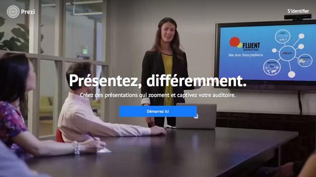 Prezi, le concurrent 100% Web de Powerpoint en Français