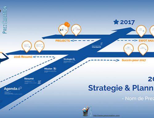 Modèle Template Prezi Gratuit Stratégie et Timeline