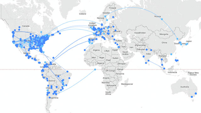 Carte Du Monde Reel.Carte Du Monde Sur Les Collaborations Prezi En Temps Reel