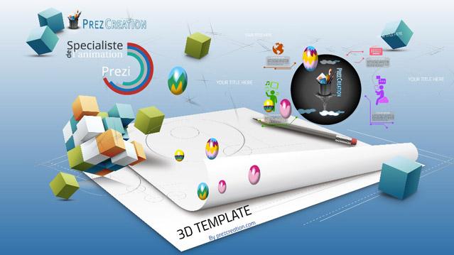 Etude et réalisation d'un Template 3D pour un client institutionnel.