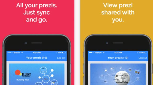 Prezi application IOS présenté par Prezcreation