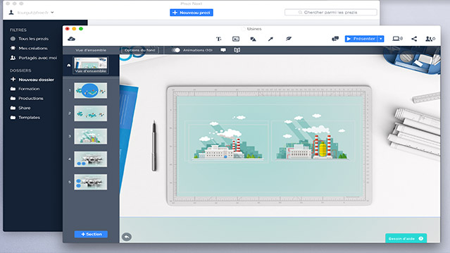 Prezi Next nouvelle application gratuite